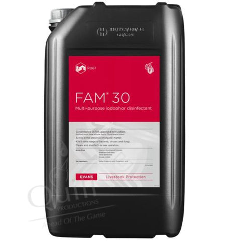 Fam-30 Disinfectant, Disinfectant, Quill Productions