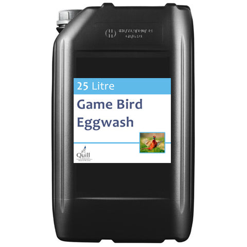 Game Bird Egg Wash 25 litre, Chemicals, Quill Productions