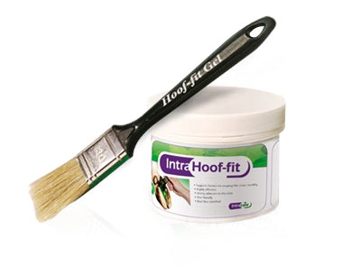 Intra Hoof-fit Gel 330ML pot & brush, green hoof gel
