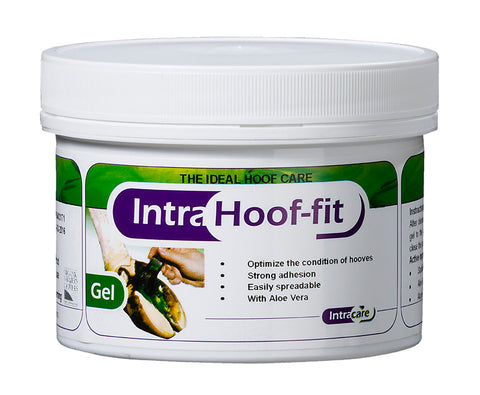 Intra Hoof-fit Gel 330ML pot & brush, Hoof & Skin Care, Quill Productions