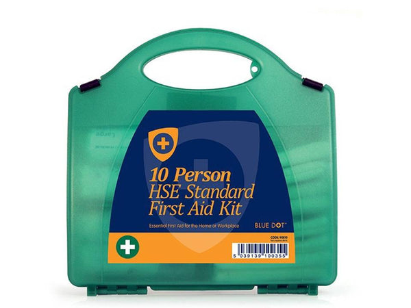 Low to medium risk first aid kit   Compact and durable, HSE compliant, internal compartments    Ideal for small offices, shops, libraries, light engineering plants and warehouses