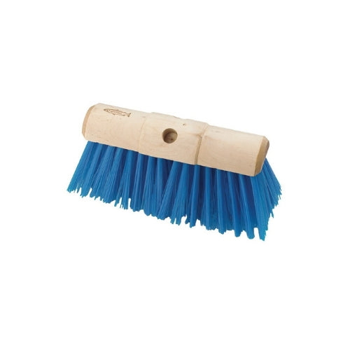 Blue plastic broom head with 1.27mm polypropylene fill