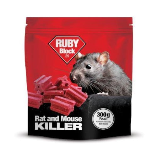 Ruby Block Rat Bait, Pest Control, Rat Poison