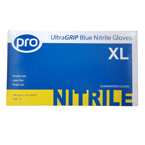 2 BOXES PER PERSON - Ultragrip Pro Blue Nitrile Gloves x 100