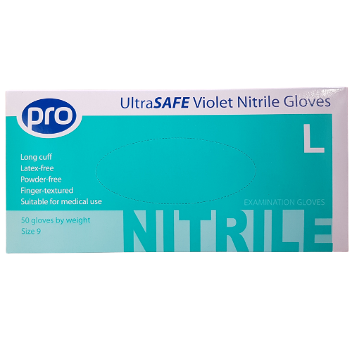 Disposable nitrile gloves. Non-toxic, no impurities, no matter the right hand, easy to use, soft.  They have good flexibility and touch, acid and alkaline resistance, oil resistance, penetration resistance and antibacterial.