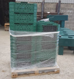 green stackable transport crate