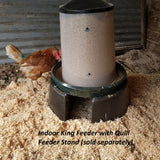 quill feeder stand with indoor king feeder