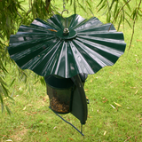 Deter those pesky squirrels from climbing up or down onto any of your feeders.  These metal baffles outfox even the most cunning squirrel!