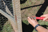 step 1 using a wire twist tool, securing game fences