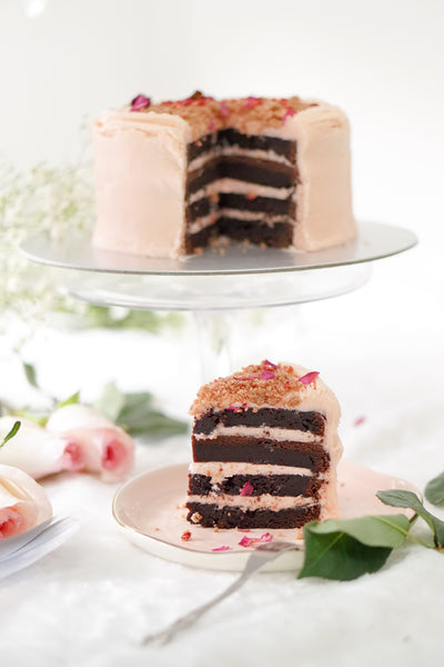 Roseberry Dark Chocolate Cake