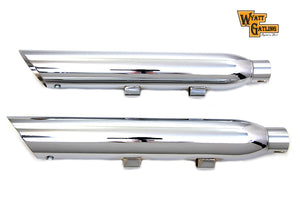 Wyatt Gatling Chrome Slash Muffler Set XL 2014-2019