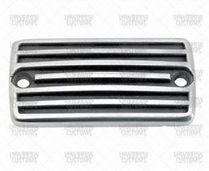 Lowbrow Customs Finned Master Cylinder Cover 1982- 2005 Harley Davidson