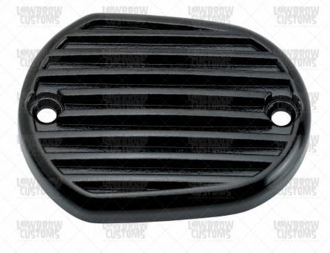 Lowbrow Customs Finned Master Cylinder Cover  Black 2004-2018 Harley Davidson Sportster