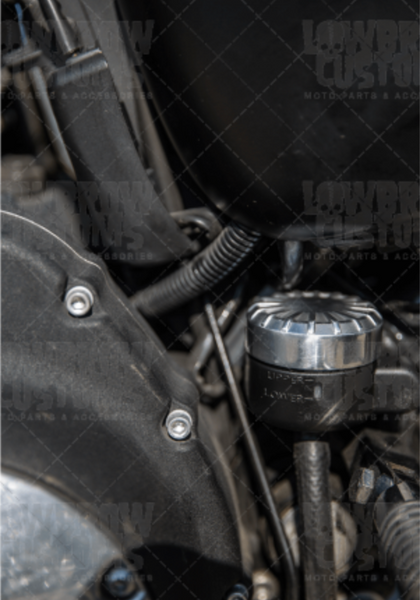 Lowbrow Customs Radial Finned Rear Master Cylinder Cover - 2004 - 2014 Harley-Davidson Sportster