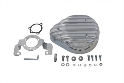 Tear Drop Air Cleaner Kit finned Chrome