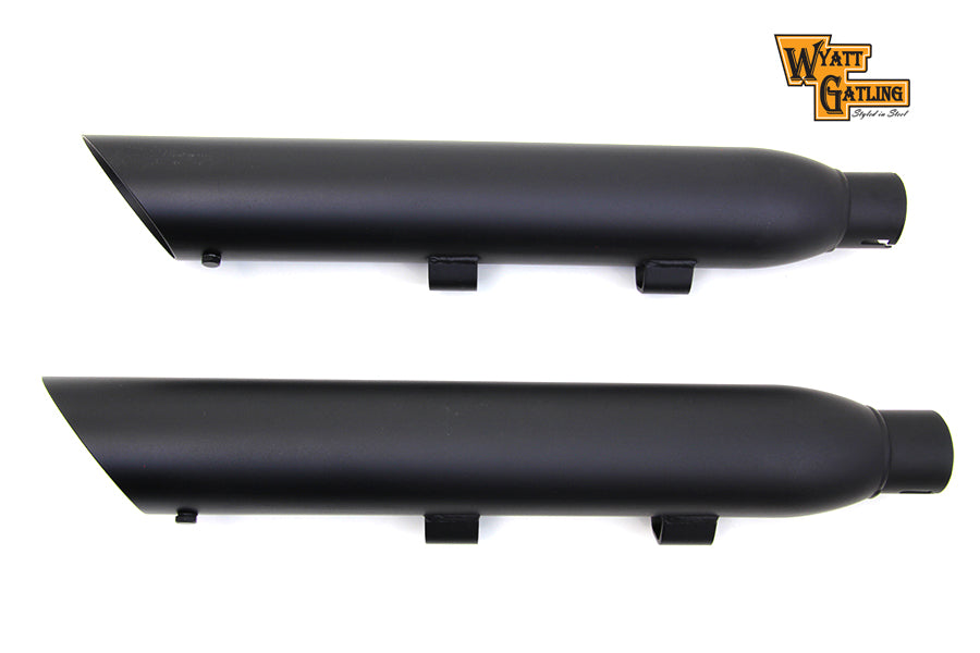 Wyatt Gatling Black Slash Muffler Set XL 14+