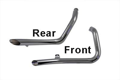 Exhaust Drag Pipe Set Side Slash Style XL 1986-2003 Chrome