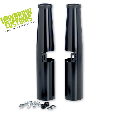 Lowbrow Customs 39mm Fork Shrouds - Black