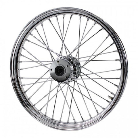 "Chrome Front 40 Spoke Wheel 21 ""x 2.15"" fits Harley FXST, FXDWG, 1984-1999 fits Moto Iron Springers"