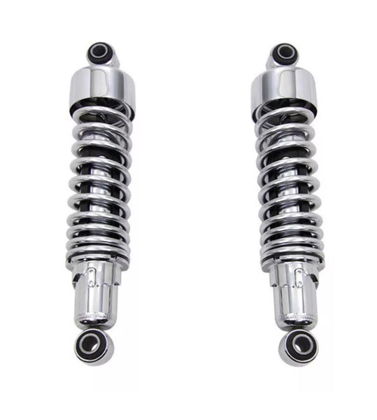 "Harley Davidson Sportster Lowering 10.5"" Shock Absorbers In Chrome 04+"