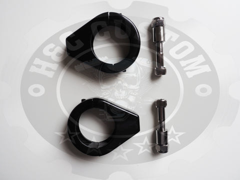 Harley Davidson Sportster 39mm Front Fork Indicator Relocation Brackets Black