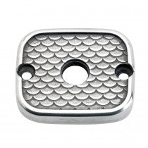 Lowbrow Customs Fish Scale Master Cylinder Cover 96-09 Harley Davidson