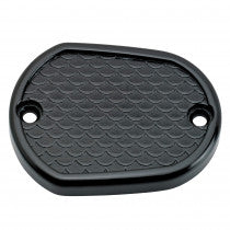Lowbrow Customs Fish Scale Master Cylinder Cover 04+ XL Sportster BLACK