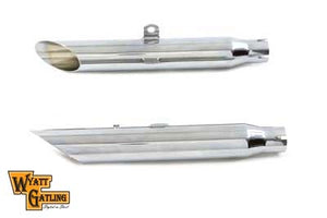 Wyatt Gatling Chrome Slash Slip-On Muffler Set Chrome