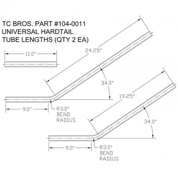 TC Bros. Universal Weld-On Hardtail Frame Kit
