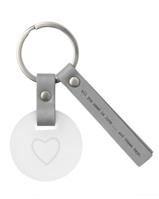 Leather Key Ring 'All you need is...'