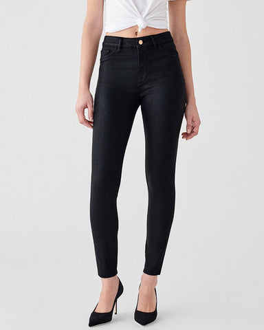 Black coated skinny jeans 'Farrow' in Sonoma