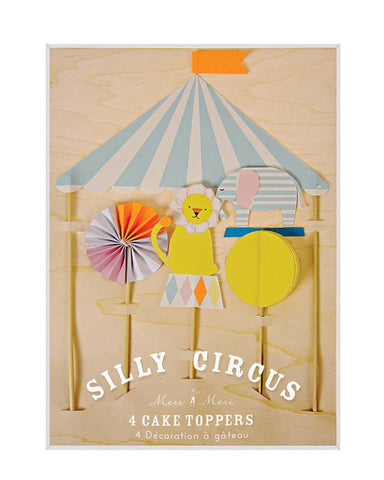 Silly Circus Cake Toppers S/4 - shopatstocks