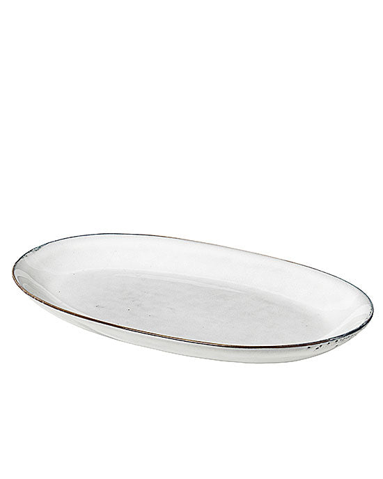 Large Oval Plate 'Nordic Sand'