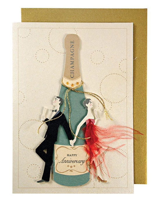Anniversary: Couple with Champagne Bottle - shopatstocks
