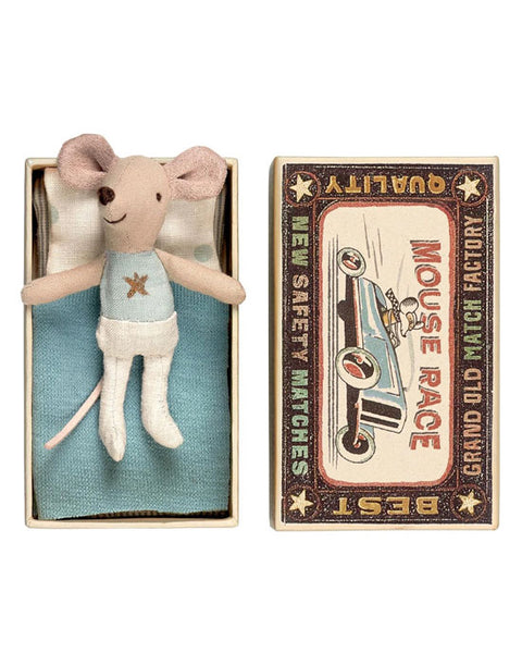 Little Brother Mouse in a Matchbox (Star Vest)