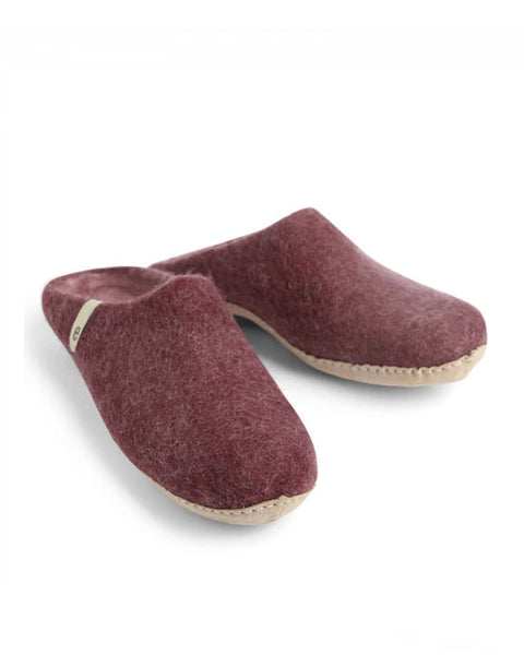 Egos Wool Slippers - Bordeaux