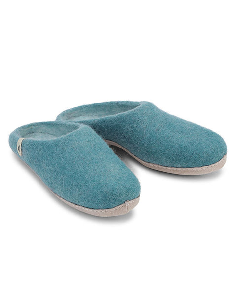 Egos Wool Slippers - Sea Blue