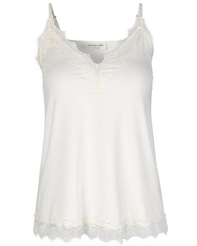 Billie Lace Strap Top Ivory