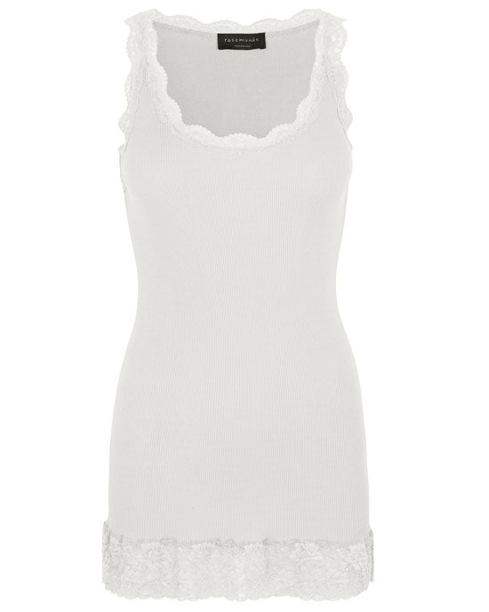 Organic Cotton Lace Top Ivory