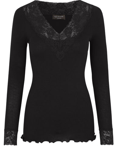 Bernadine Organic Cotton Top Black