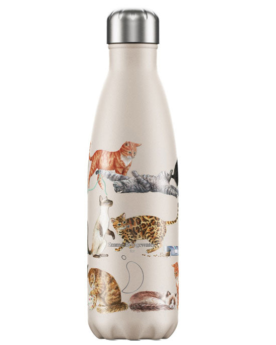 Chilly's Emma Bridgewater Cats Water Bottle, 500ml