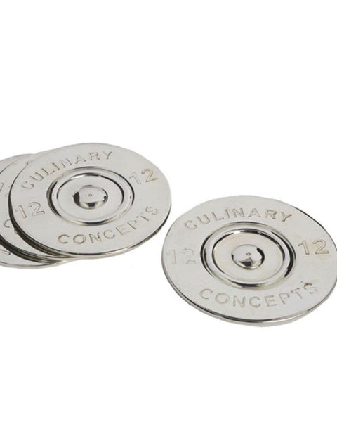 Set of 4 Cartridge Bottle Coaster