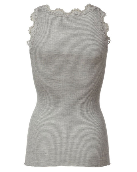 Classic silk top Light Grey - shopatstocks
