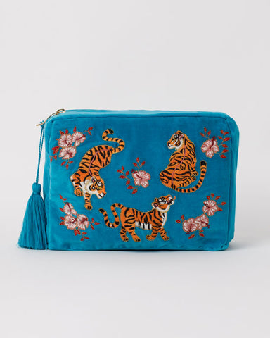 Tiger Azure Wash Bag