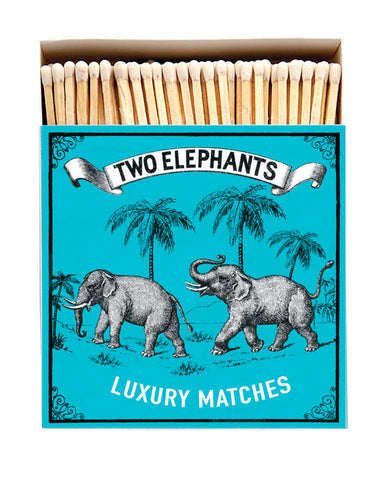 Two Elephants Square Matchbox