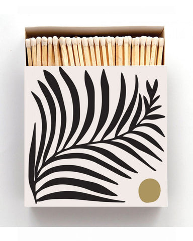 White Fern Square Matchbox