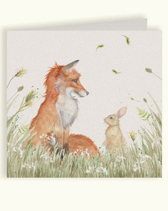 Country Companions - Fox and Rabbit Card - shopatstocks