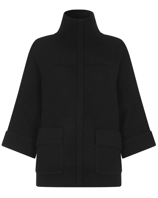 Relaxed boxy cardigan/jacket, wool/cashmere
