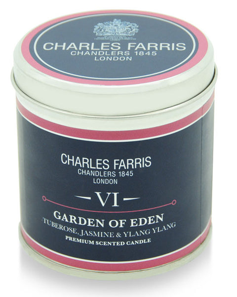 Charles Farris tin candle