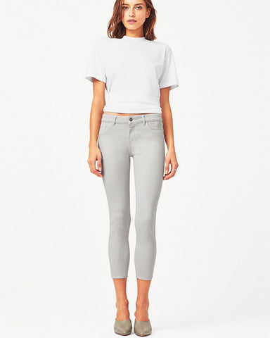 'Florence' jeans, cropped in bone